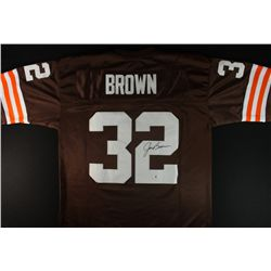 Jim Brown Signed Browns Jersey (GA COA)