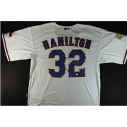 Josh Hamilton Signed Rangers World Series Jersey (GA)