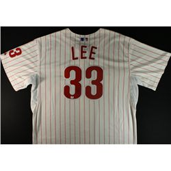 Cliff Lee Signed Phillies Jersey (GA)