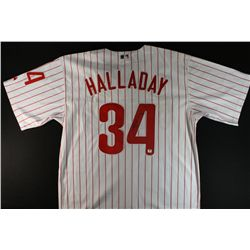 Roy Halladay Signed Phillies Jersey (GA COA)