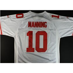 "Eli Manning Signed Giants Super Bowl Jersey: Inscribed ""SB XLII & SBXLVI MVP"" (Steiner COA)"