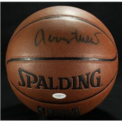 Jerry West Signed Basketball (JSA COA)