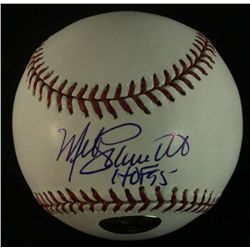 Mike Schmidt Signed OML Baseball: Inscribed  HOF 95  (Tracercode COA)