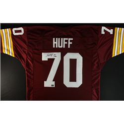 "Sam Huff Signed Redskins Jersey: Inscribed ""HOF 1982"" (AAA COA)"