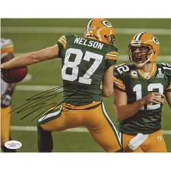 Jordy Nelson Signed Packers 8x10 Photo (JSA COA)