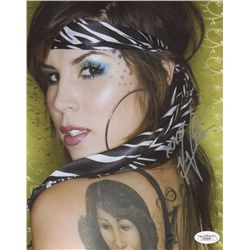 Kat Von D Signed 8x10 Photo (JSA COA)