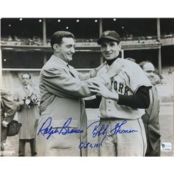 Bobby Thomson & Ralph Branca Signed & Inscribed Shot Heard 'Round the World 8x10 Photo (GA COA)