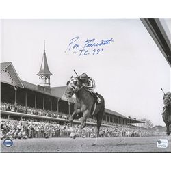 "Ron Turcotte Signed 8x10 Photo: Inscribed ""TC 73"" (GA COA)"