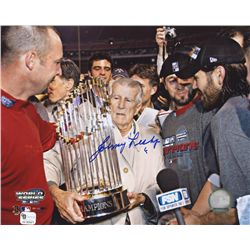 Johnny Pesky Signed Red Sox 8x10 Photo (GA COA)