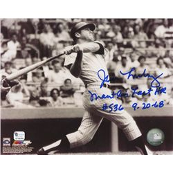 "Jim Lonborg Signed Mickey Mantle 8x10 Photo: Inscribed ""Mantle's Last HR #536 9-20-68"" (GA COA)"