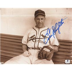 Enos Slaughter Signed Cardinals 8x10 Photo (GA COA)