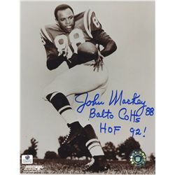 "John Mackey Signed Colts 8x10 Photo: Inscribed ""Balto Colts"" & ""HOF 92!"" (GA COA)"