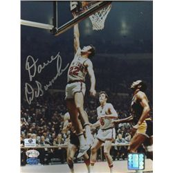 Dave DeBusschere Signed Knicks 8x10 Photo (Mounted Memories and GA COA)