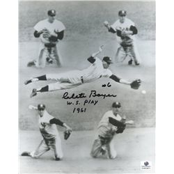 "Clete Boyer Signed Yankees 8x10 Photo: Inscribed ""W.S. Play 1961"" (GA COA)"
