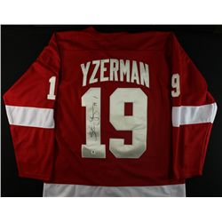 Steve Yzerman Signed Red Wings Jersey (GA COA)