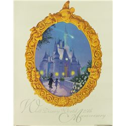 Walt Disney World 25th Anniversary LE 16x20 Lithograph