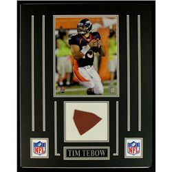 Tim Tebow Broncos 16x20 Custom Display with Piece of Football