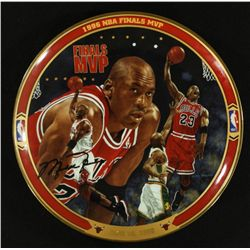 Michael Jordan Limited Edition 8  UDA Bradford Exchange Commemorative Plate:  1996 NBA Finals MVP