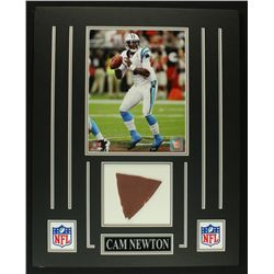 Cam Newton Panthers 16x20 Custom Display with Piece of Football