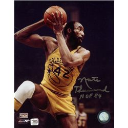 Nate Thurmond Signed Warriors 8x10 Photo: Inscribed  HOF 84  (AR COA)