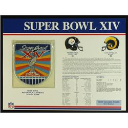 Super Bowl XIV Patch With 12x9 Scorecard: Steelers vs. Rams