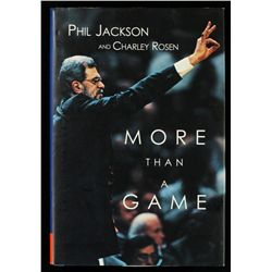 Phil Jackson Signed Book:  More Than A Game  (JSA COA)
