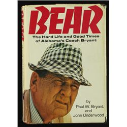 Paul Bryant Signed Book:  Bear  (JSA COA)