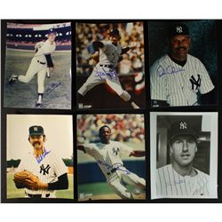 Lot of (10) Signed 1978 Yankees Photos: Ron Guidry, Paul Blair, Sparky Lyle, Mickey Raines (PA LOA)