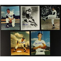 Lot of (10) Signed 1961 Yankees Photos: Skowran, Tresh, Blanchard, Houk, Richardson (PA LOA)