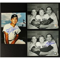 Lot of (3) Joe Pepitone Signed Yankees 8x10 Photos (PA LOA)