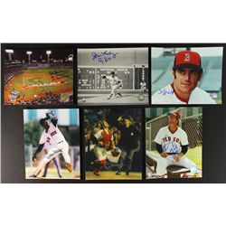 Lot of (6) Signed Red Sox Photos: Lonborg, Boyd, Lee, Gedman, McAuliffe, Stanley (PA LOA)