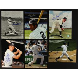 Lot of (6) Signed Yankees Photos: Blomberg, Stallard, Bouton, Blair, Phillips, Crosby (PA LOA)