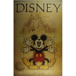 "Walt Disney Mickey Mouse ""Legacy Edition"" 24x36 LE Lithograph"