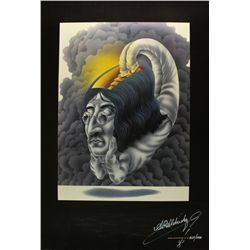 1981 John Lennon 22x30 Fine Art Lithograph: Hand-Signed by Alan Aldridge #429/1000 (PA LOA)
