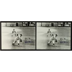 Lot of (2) Don Larsen Signed Yankees 8x10 Photos (PA LOA)