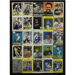 Lot of (25) Signed Baseball Cards with John Smoltz, Goose Gossage, John Olerud (PA LOA)