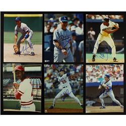 (10) Signed MLB Photos with Tom Lasorda, Mark Grace, Orel Hershiser, Steve Garvey (PA LOA)