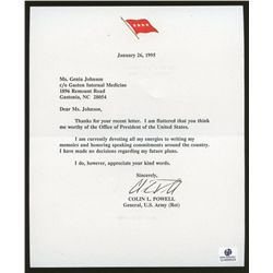 Colin Powell Original Signed Letter From 1995 (GA COA)