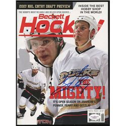 Ryan Getzlaf Signed Ducks Beckett Magazine (JSA COA)