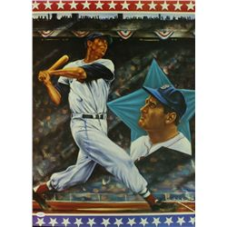 Ted Williams Signed Red Sox 18x24 Lithograph (JSA LOA)