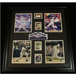 Custom Framed 40/40 Club Display With Autographed Inserts of Bonds, Rodriguez, Soriano, Canseco