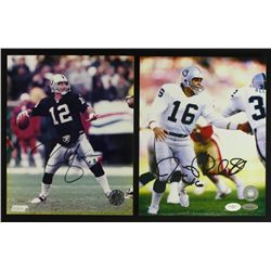 Lot of (2) Signed Raiders Photos: Rich Gannon & Jim Plunkett (JSA & TriStar COA)