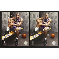 Lot of (2) Amare Stoudemire Signed Suns 8x10 Photos (PA LOA)
