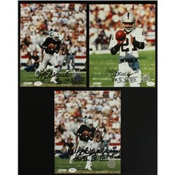 "Lot of (3) Cliff Branch Signed Raiders 8x10 Photos: Inscribed ""SB XI, XV, XVIII"" (JSA Hologram)"