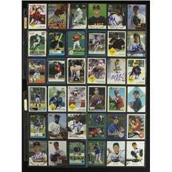 Lot of (90) Signed Baseball Cards: Liriano, Morse, LaRue, Lowry, Lidge (PA LOA)