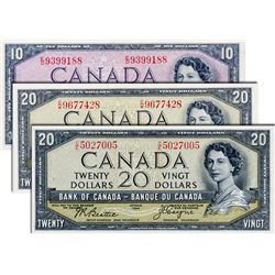 BANK OF CANADA. $10.00. 1954 Issue. BC-32b. No. E/D9399188 (changeover). BCS graded Extra Fine-40, (