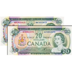 BANK OF CANADA. $20.00. 1969 Issue. BC-50b. Lawson-Bouey. No. WW1825823. BCS graded Original Unc-60;