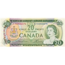 BANK OF CANADA. $20.00. 1969 Issue. BC-50bA. Lawson- Bouey. No. *YA2436474. CCCS graded AU-58.