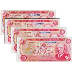 BANK OF CANADA. $50.00. 1975 Issue. BC-51b. Crow-Bouey. No. EHJ2867508. No. EHK5978924. No. EHM47271