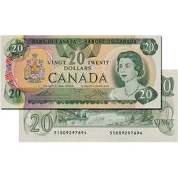 BANK OF Canada. $20.00. 1979 Issue. BC-54cA. No. 51009297694. Choice About New-58.
